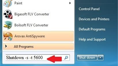 خاموش کردن کامپیوتر در یک زمان معین توسط ویندوز XP و ۷